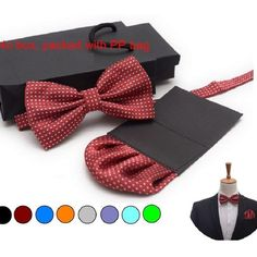 men Bow tie set insert paper classic men pocket square hanky bow tie and handkerchief set bowknot bowtie handki purple wedding