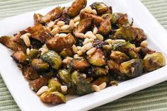 ... Roasted Brussels Sprouts Recipe with Balsamic, Parmesan, and Pine Nuts