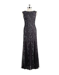 Women's Apparel   Gowns/Evening   Adriana Papell Buff Cap Sleeve Gown   Lord and Taylor $359, Sale $287.20