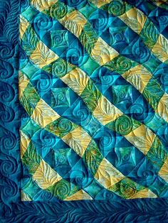 Storm at Sea, quilted by Nina Reingruber | 1001 QUILT | Longarm Quilt Service | Regensburg