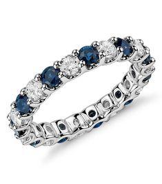 Anniversary Jewelry U-Prong Eternity Sapphire and Diamond Ring in Platinum ct.) Luna Sapphire and Diamond Eternity Ring in Platinum ct. Platinum Jewelry, Sapphire Jewelry, Sapphire Diamond, Diamond Jewelry, Gemstone Jewelry, Sapphire Rings, Blue Sapphire, Gold Jewellery, Jewelry Rings