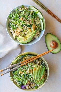 Wasabi Vegetable Bowls