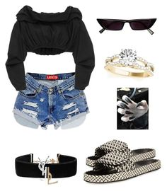 Untitled #12 by cryamilet19 on Polyvore featuring polyvore fashion style E L L E R Y Isabel Marant Yves Saint Laurent Levi's clothing