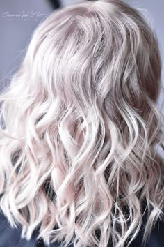 Soft Cool Toned Pearl Platinum Blonde hair color