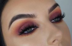 Burnt burgundy huda beauty lashes in the style Noelle #ad #makeup #hudabeauty #lashes