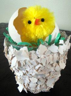 Just Hatched Easter Egg Votive from Mod Podge Rocks