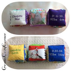 Soft stuffed baby 3 block setfabric blocks by GramsCozyCorner