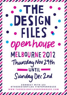 The Design Files Open House 2012 flyer by Georgia Perry – please share!