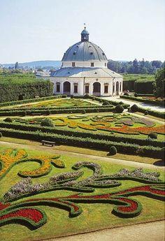 Květná zahrada (Flower gardens) in Kroměříž, Czech Republic