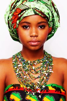 African Beauty   #EasyPin She is beautiful and I mean her no disrespect, but if I had to dress like her, well they would have to go to tent and awning for the dress part but I could have a bad hair day and noone would know! yea.