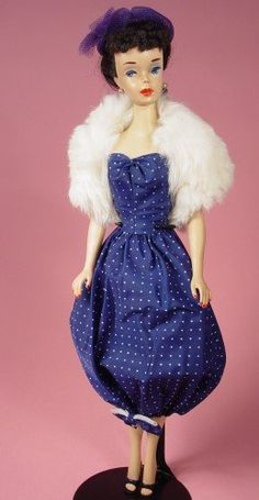 Brunette Ponytail Barbie in Gay Parisienne. c. 1960; Outfit circa 1959, doll circa 1960-1961