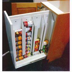 Hidden storage in lower cabinets
