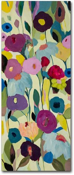 Trademark Fine Art Rising Toward the Sun Canvas Wall Art Art Floral, Motif Floral, Abstract Flowers, Abstract Art, Painting Flowers, Art And Illustration, Art Plastique, Painting Inspiration, Flower Art