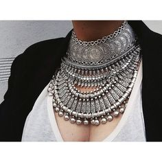 Nomad Bohemian Tribal Choker Necklace. Turkish, Boho Cyprus, Silver Ethnic Tribal Bazaar Gypsy, Jewelry Festival Free Child, People, Wild on Etsy, $55.00