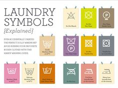 Laundry symbols explained...because sometimes you need to know these things.
