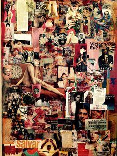 Fragmentos de uma vida    Acrílica e colagem sobre tela     1,0x1,30