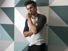 """Zac Efron takes another step into the adult end of the acting pool playing a frat guy opposite Seth Rogen in the R-rated comedy """"Neighbors."""" ~ Zac posing for USA Today ~ April 28, 2014"""
