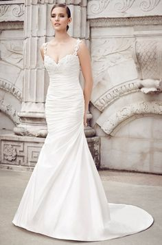 Sweetheart Fit and Flare Wedding Dress  with Dropped Waist in Lace. Bridal Gown Style Number:33042805