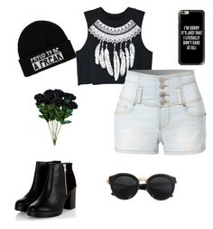 """""""My life"""" by madzzbrookez on Polyvore featuring WithChic, LE3NO and Casetify"""