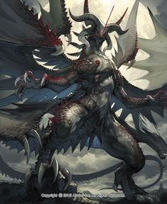 """Dragon-Mythical Being-Scales-Winged Reptile. Find more on the """"Creativity+Fantasy"""" board. Monster Art, Monster Concept Art, Fantasy Monster, Mythical Creatures Art, Mythological Creatures, Creature Concept Art, Creature Design, Dark Fantasy Art, Fantasy Character Design"""