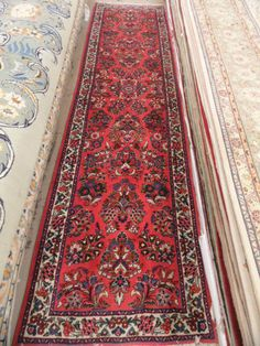 x Red SAROUK Runner Hand Knotted in Iran Genuine Persian Rug | eBay
