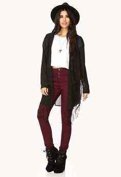 Fringe Queen Open-Front Cardigan | FOREVER21 Fashion Queen