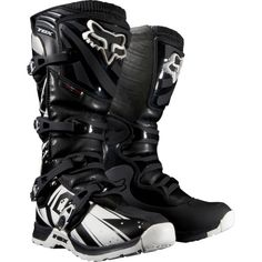 Fox Racing Comp 5 Undertow Men's Motocross/Off-Road/Dirt Bike Motorcycle Boots - Black / Size 9 Atv Boots, Dirt Bike Boots, Dirt Bike Gear, Motorcycle Boots, Dirt Biking, Fox Racing, Fox Motocross Gear, Boots 2014, Enduro