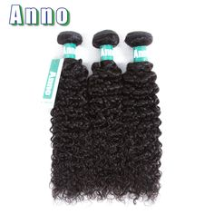 Anno Hair Peruvian Kinky Curly Wave Hair Bundles Natural Color 100% Human Hair 3 Bundles Free Shipping Hair Weave
