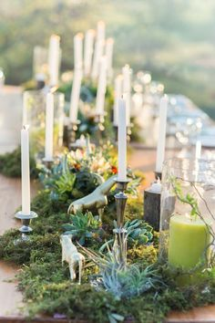 Candles and succulents: http://www.stylemepretty.com/destination-weddings/2016/10/21/african-bush-safari-wedding/ Photography: Leila Brewster - http://leilabrewsterphotography.com/