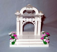 NEW-CUSTOM-LEGO-WEDDING-ARCH-CAKE-TOPPER-FOR-BRIDE-AND-GROOM-MINIFIGURES