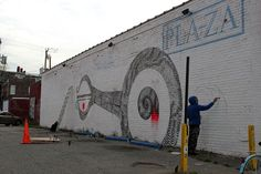 More from Never2501 in Richmond, Virginia –more (parking lot) images @ http://www.juxtapoz.com/Street-Art/more-from-never2501-in-richmond-va –G40 Art Summit, Never2501, Richmond, Virginia, Street Art, Public Art
