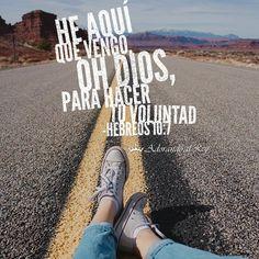 Si haces la voluntad de Dios también recibirás las instrucciones y las armas para hacerlo. Preséntate a Él y dile: He aquí que vengo, oh Dios, para hacer tu voluntad, Como en el rollo del libro está escrito de mí. Hebreos 10:7 RVR1960