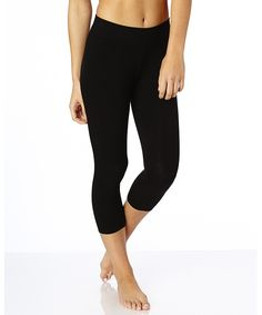Black Everyday Cropped Leggings. Super soft organic cotton basics in classic colors for any day of the week!