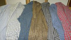 Life is a Stitch: Seven Shirts + Seven Steps = One Thrifty Quilt  She shows you how to cut the shirts.