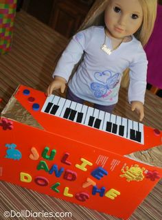 How to make an electric keyboard for your american girl doll