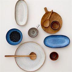 Sandrine small serving platter - light grey - Bloomingville