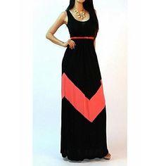 ecbc858e25c TIANHE Stripe vest women dress show thin render long mop the floor skirt  SV002513 - USD