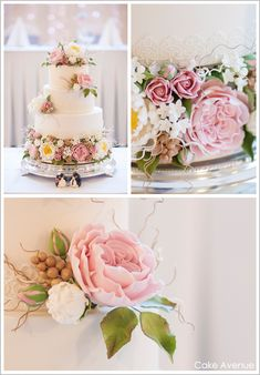 sugar peonies and english roses - sugar flowers are an amazing Eco-friendly cake topper!
