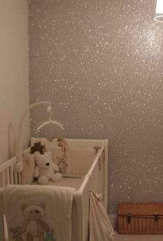 sparkle wall...Um yes! If I ever have a daughter I just may do this