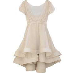 Silk Tiered Flounce Dress - oh how I wish I had somewhere to wear this!