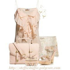 """""""Pale Pink, Ruffles & Lace"""" by steffiestaffie on Polyvore"""