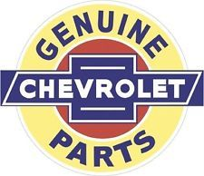 """CHEVROLET GENUINE PARTS XXL 42"""" USA MADE Retro Garage Art GM DEALER Metal Sign"""