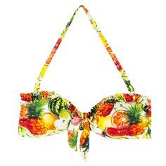 Csinos bikinifelső, ami ideális strandra vagy tengerpartra. Hozzá illő alsó kapható.