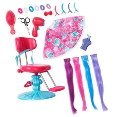 Journey Girls Hair Stylin' Studio Only $34.99 for all of this awesomeness! I need this so I can make my dolls hair all cool.