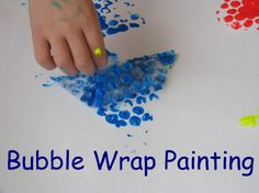 Bubble Wrap Painting - Learning Shapes