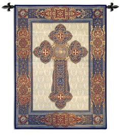 Fine Art Tapestries Gothic Cross BW Wall Hanging