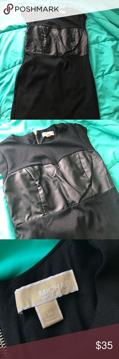 Michael Kors Faux Leather Dress Size 14 Michael Kors Faux Leather dress in size 14! Worn once. Very pretty!! Michael Kors Dresses