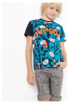 b55dc466d6d Camiseta gris de manga corta para niño Desigual. ¡Descubre la colección de niño  más cañera!