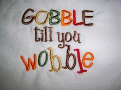 Thanksgiving Baby Bib  Gobble Till You by grinsandgigglesbaby1, $6.99