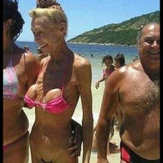 What happens to breast implants when you age.... Gross much? YES